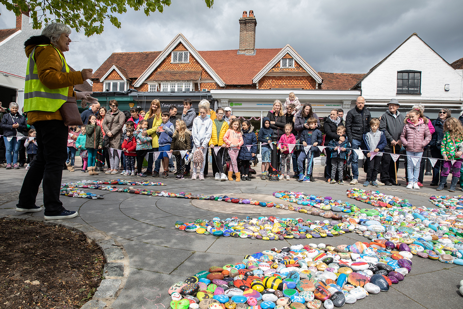 Cranleigh rocks into the record books with painted pebble display