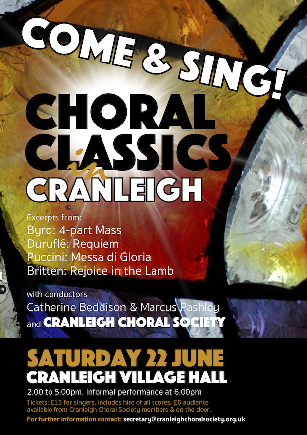 Come & Sing! Choral Classics Cranleigh