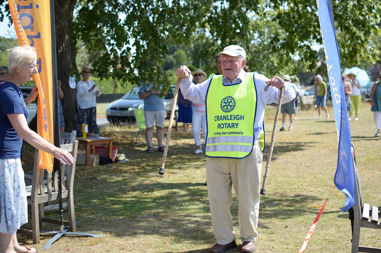 Cranleigh's Captain Tom completes his sponsored walk
