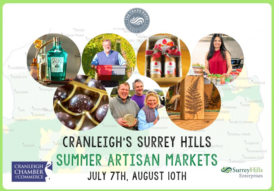 Cranleigh Surrey Hills Summer Artisan Markets